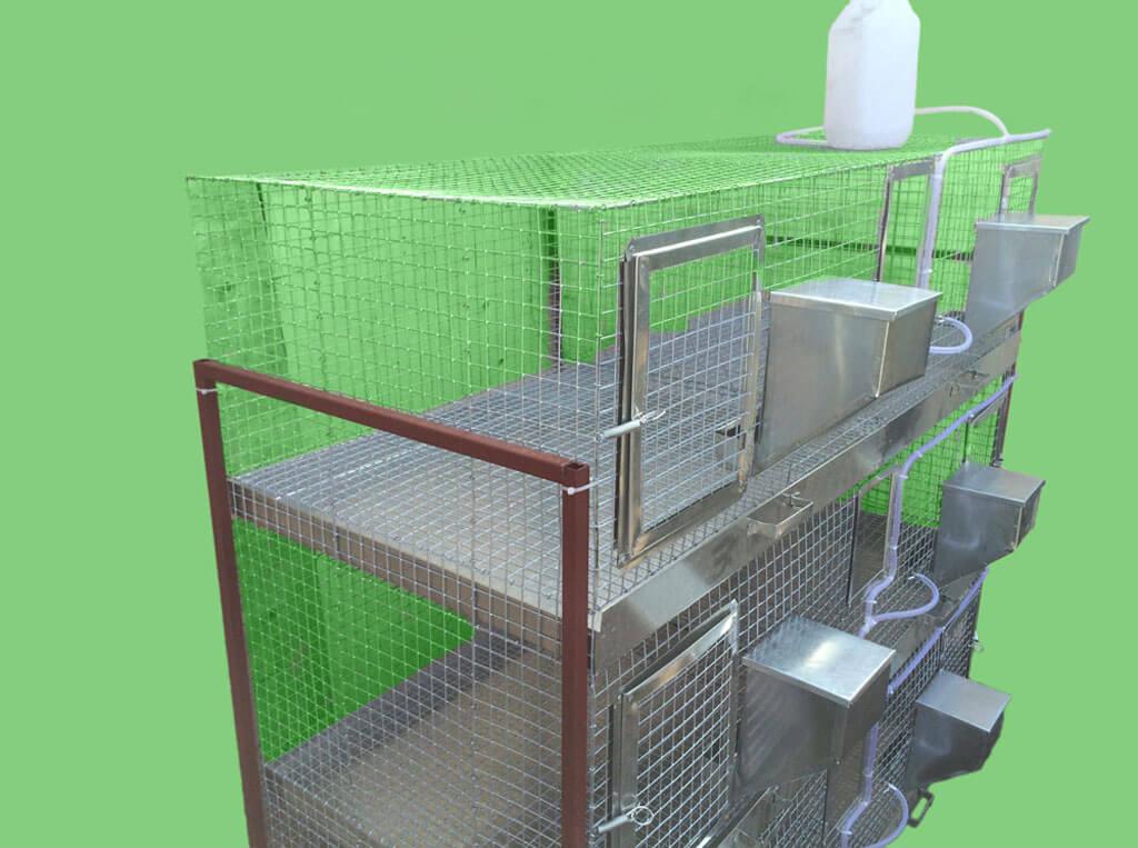 Клетка для кроликов на откорм своими руками 62